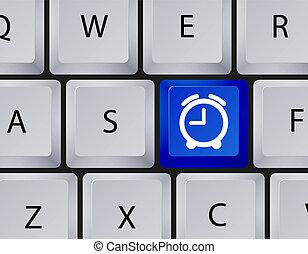 10, uhr, eps, vektor, keyboard., ikone