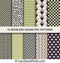10 Vector seamless geometric patterns