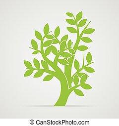10, vektor, träd, eps