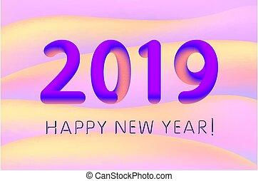 10, vetorial, coloridos, cartaz, estouro, gradiente, anual, energy., novo, eps, negócio, cover., desenho, ilustração, ano, relatório, 2019, calendário, bandeira, ou, feliz