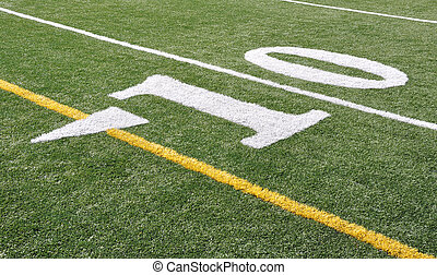 10 Yards Mark - Footbal field ten yards