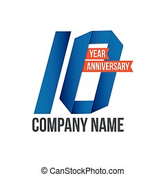 10 Year Anniversary Vector Template Design