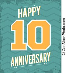 10 Year. Celebrating Anniversary. Vector graphic