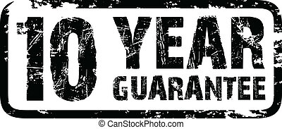 10 year guarantee stamp