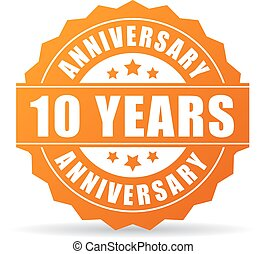 10 years anniversary celebration vector icon