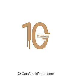 10 Years Anniversary Celebrations Vector Template Design Illustration