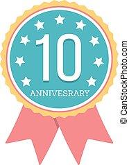 10 Years Anniversary Emblem