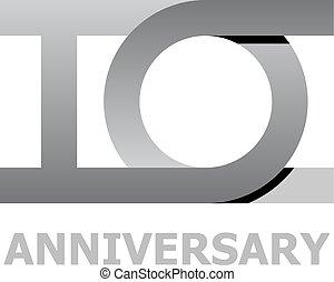 10 years anniversary number