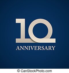 10 years anniversary paper number