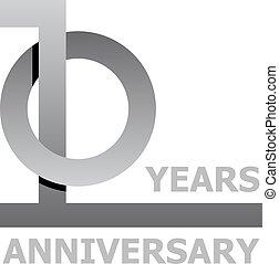 10 years anniversary symbol