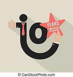 10 Years Anniversary Typography Design Vector Illustration