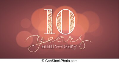Anniversary th balloons poster years banner design clip
