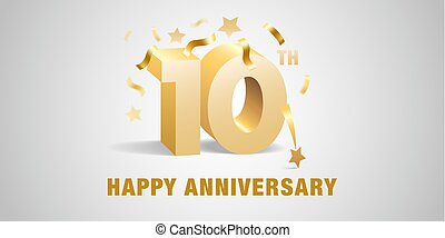 10 years anniversary vector icon, logo. Graphic design template