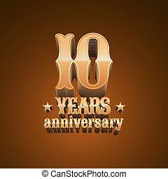 10 years anniversary vector logo