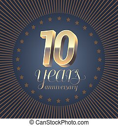 10 years anniversary vector logo