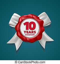 10 years anniversary vector logo, icon. Template design element