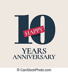 10 years anniversary vector logo, icon