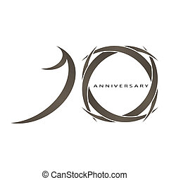 10 years anniversary vector - The abstract of 10 years...