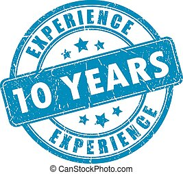 10 years experience stamp