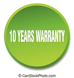 10 years warranty green round flat isolated push button