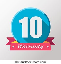10 years warranty label.