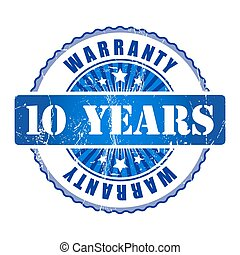 10 Years warranty stamp.