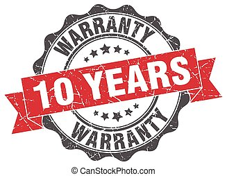 10 years warranty stamp. sign. seal