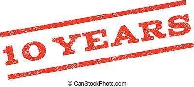 10 Years Watermark Stamp