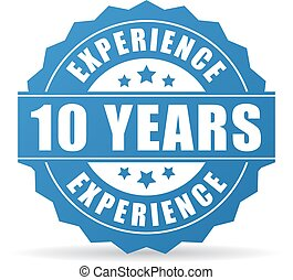 10 yeas experience vector icon - 10 years experience vector...