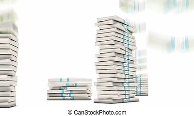 10 Yuan bundles stacks falling down