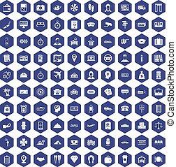 100, 支付, 錢, 圖象, 六角形, 紫色