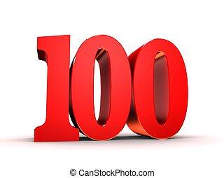 100, -, 数, 赤