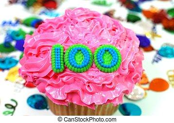 100, 祝福, -, 数, cupcake