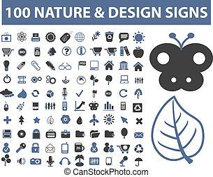 100, 自然