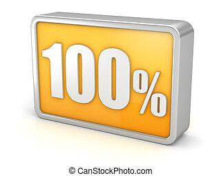 100% 3d icon on white background