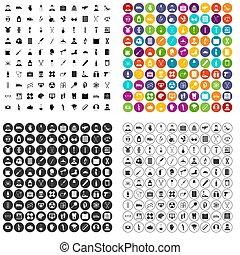 100 ambulance icons set variant