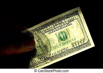 100, amerikanska dollars, watermark