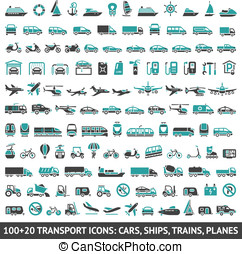 100 AND 20 Transport icon - 120 Transport icons,
