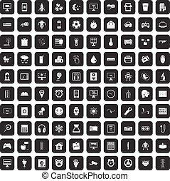 100, app, heiligenbilder, satz, schwarz