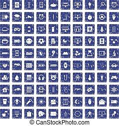 100 app icons set grunge sapphire