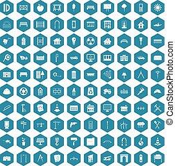 100 architecture icons sapphirine violet