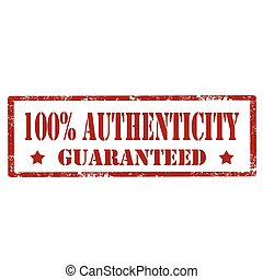 100% Authenticity-stamp - Grunge rubber stamp with text 100%...