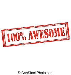 100% Awesome-stamp
