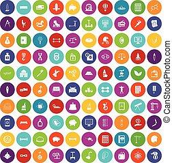 100 balance icons set color