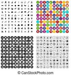 100 balance icons set variant