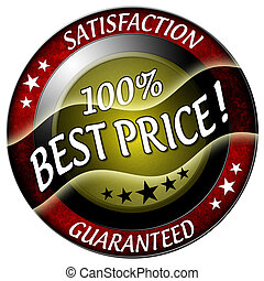 100 best price satisfaction and guaranteed icon isolated
