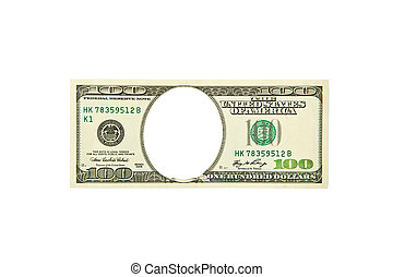 $ 100 bill isolated on a white background