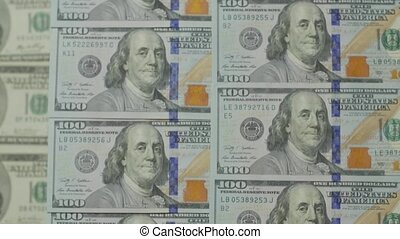 100 Bills Of Dollar - 100 bills of dollar Franklin portrait ...