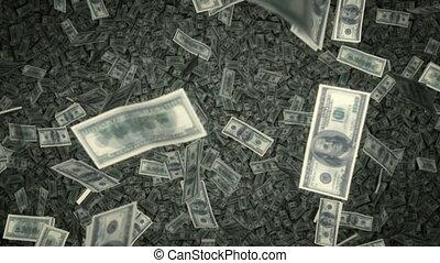 $100 Bills Raning Down - US