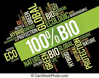 100% BIO word cloud